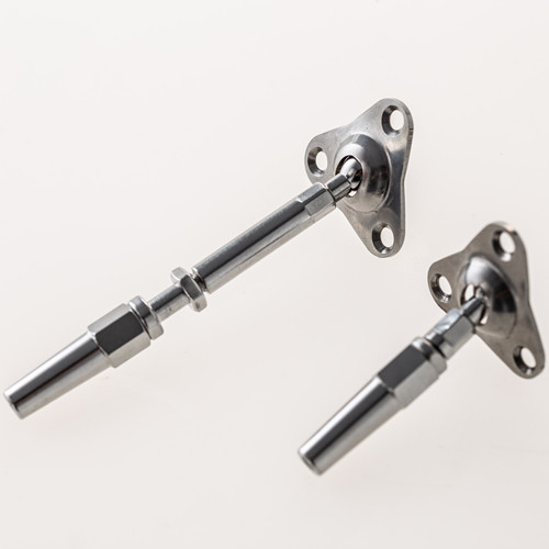 "cable railing system hardware Quick Lock Fittings 316 Stainless Steel Flat Base wire Railing Tensioner 1/8"",5/32"""
