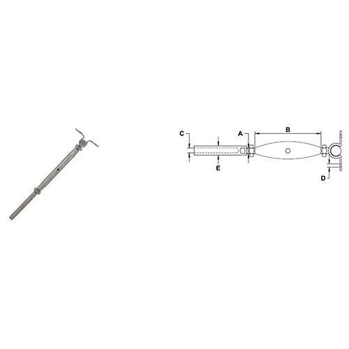 Cable Railing Turnbuckles With Deck Toggle
