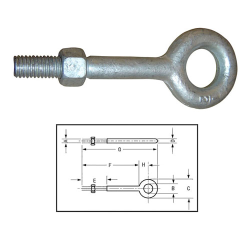 REGULAR NUT EYE BOLTS