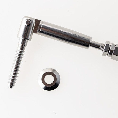 "Quick Lock Fittings 316 Stainless Steel Lag Wooden Screw Terminal Adjustable End Cable Railing tensioner 1/8"",5/32"""